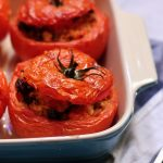 Stuffed tomatoes with leftover rice