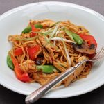 Chicken noodle stir-fry with chilli bean sauce