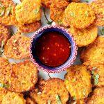 Thai sweetcorn fritter